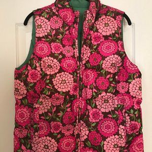 LILLY PULITZER REVERSIBLE DOWN VEST - Size M